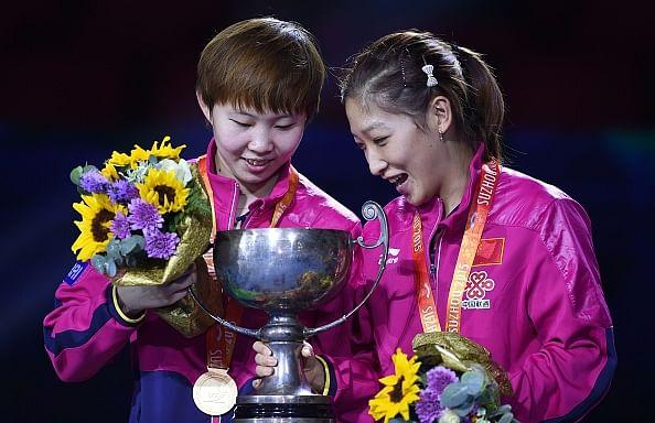 Liu Shiwen-Zhu Yuling wins women's doubles title at Table Tennis World Championships