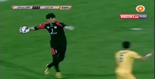 Video: Iranian keeper Alireza Beiranvand unleashes astonishing 70 yard throw