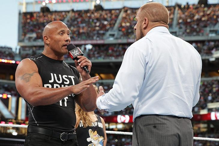 WWE discussing The Rock vs Triple H for Wrestlemania 32? Rock comments