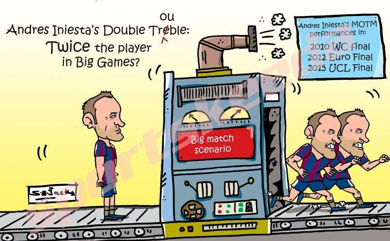 Comic: Andres Iniesta's Double Trouble