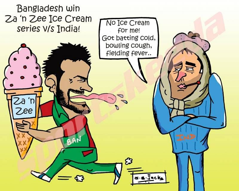 Bangaldesh win Za 'n Zee Ice Cream series