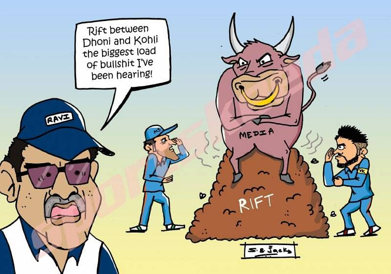 Comic: Ravi Shastri is annoyed with MS Dhoni and Virat Kohli news