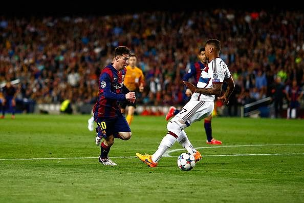Jerome Boateng reminisces about facing Leo Messi in Bayern Munich's Champions League loss