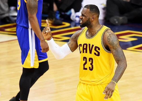 LeBron James leads Cleveland to a second consecutive win in the 2015 NBA Finals