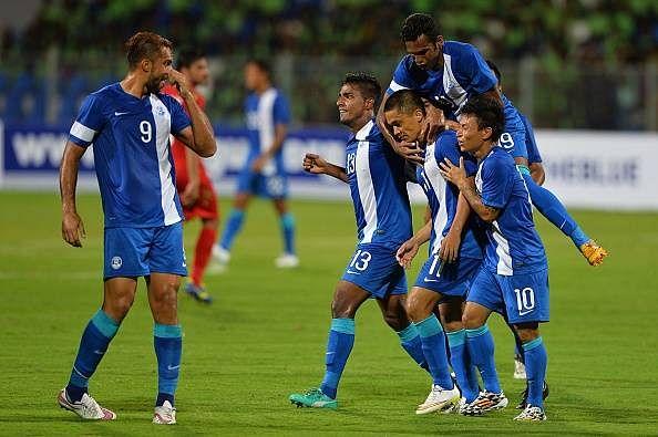 Video: India's Sunil Chhetri scores fantastic wonder goal against Oman in World Cup qualifier