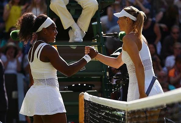 Serena Williams beats Maria Sharapova in straight sets to reach Wimbledon finals