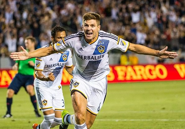 Video: Steven Gerrard scores first MLS goal in LA Galaxy's 5-2 rout of San Jose Earthquakes
