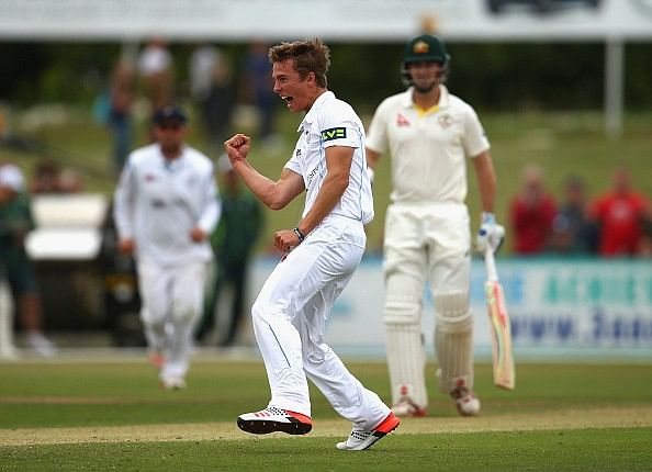 Derbyshire v Australia Day 1: 19-year-old Will Davis turns in stellar shift