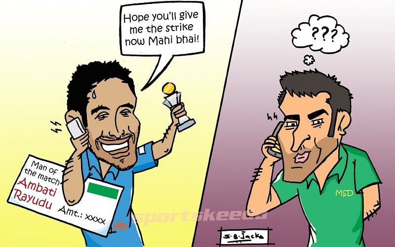 Rayudu's request to Dhoni