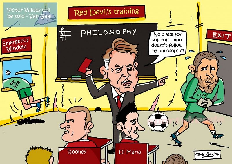 [Comic] Victor Valdes and Louis van Gaal situation at Manchester United
