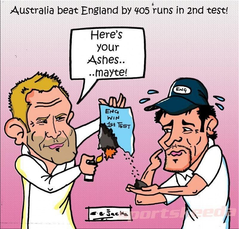Comic: Australia beat England by 405 runs in 2nd Test