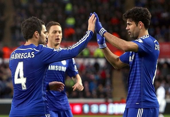 Cesc Fabregas and Diego Costa backed to do even better for Chelsea this season