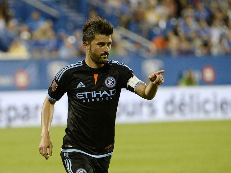 Video: David Villa becomes 'first ever free-kick scorer' for MLS newcomers New York City