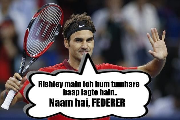 If tennis players interacted through Bollywood dialogues