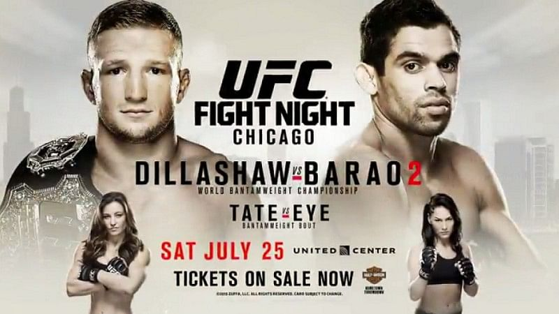 UFC on Fox 16: Dillashaw vs Barao 2 - Main card results