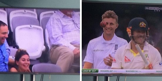 Video: Woman takes graceful fall during Ashes Test, Joe Root and David Warner share laugh