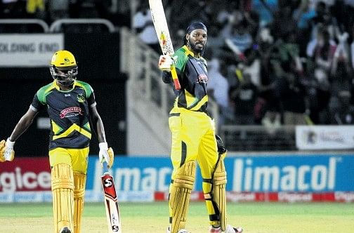 Chris Gayle slams 16th T20 Hundred; scores 105 off 57 balls vs Red Steel in CPL 2015