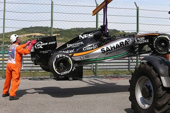 Force India retire both cars at Hungarian GP