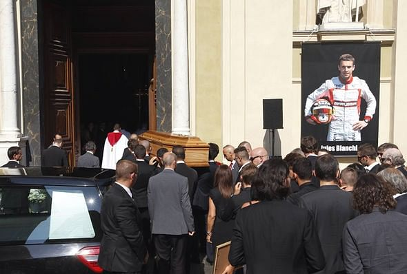 F1 Drivers pay last respects to Jules Bianchi