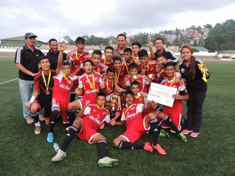Shillong Lajong FC Champions of the Under-19 Shillong Premier League 2015