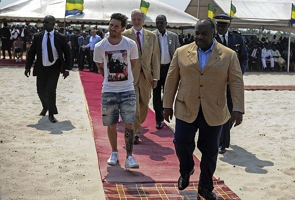Lionel Messi criticised for 'arriving as in a zoo' during Gabon visit