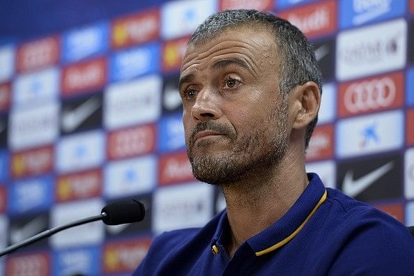 Luis Enrique upbeat despite Barcelona's loss to Manchester United