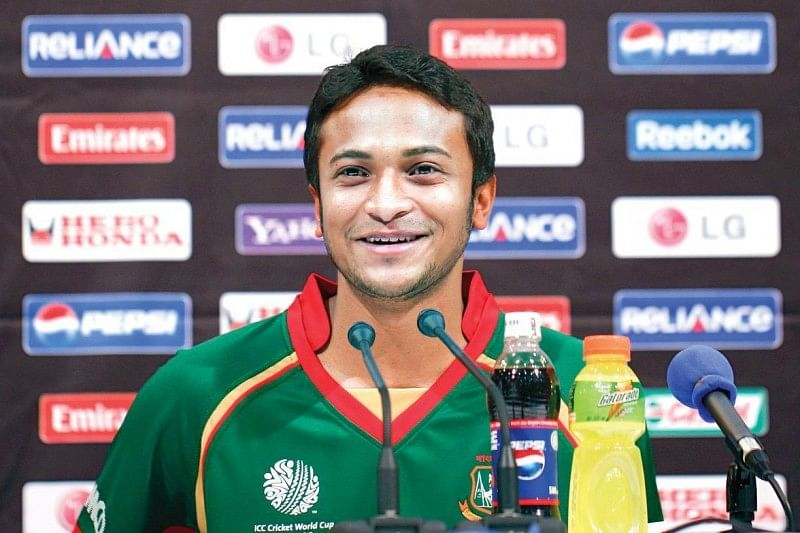 Shakib Al Hasan becomes the seventh cricketer to hit 4000 runs and take 200 wickets in ODIs