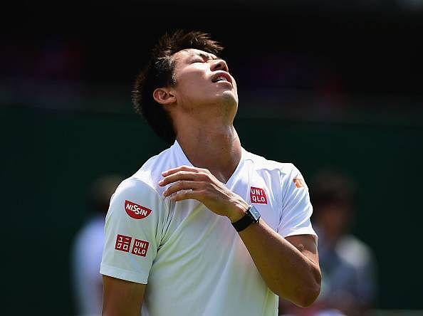 Kei Nishikori pulls out of Wimbledon with a calf injury