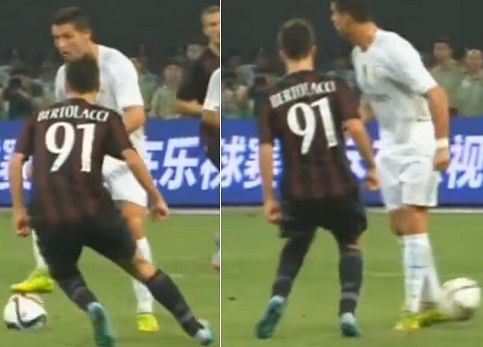 Video: Real Madrid star Cristiano Ronaldo pulls off cheeky no-look pass against AC Milan