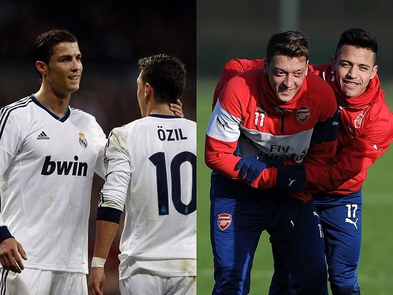 Arsenal star Mesut Ozil compares Cristiano Ronaldo and Alexis Sanchez after quizzed by fan