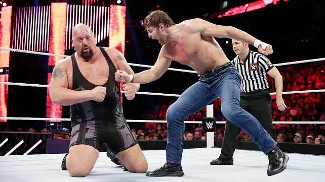 Video: Big Show stops during match to tie his boots