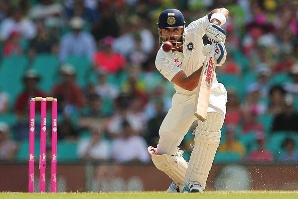 Kohli working on the sweep shot ahead of Sri Lankan tour