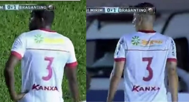 Video: Most bizarre sending off ever as player booked for wearing wrong jersey