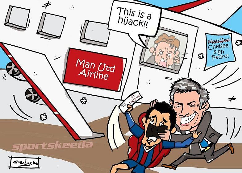 Comic: Chelsea's hijack of Manchester United's Pedro transfer