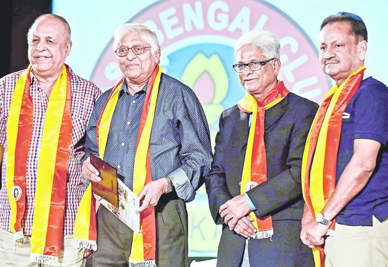 Indian Legend Mohamamed Habib awarded 'Bharat Gaurav' by East Bengal
