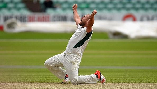 Worcestershire's Joe Leach takes hat-trick with first three balls of match