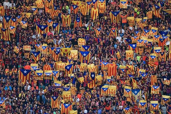 Barcelona won't appeal against UEFA sanctions over Catalan flags