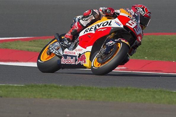 British MotoGP Qualifying: Marc Marquez on pole