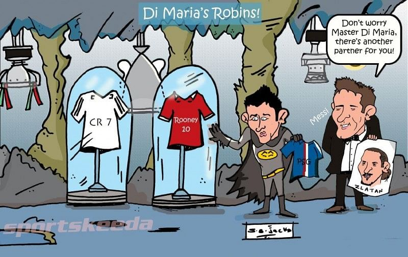 Comic: Zlatan Ibrahimovic could be Angel Di Maria's sidekick at PSG