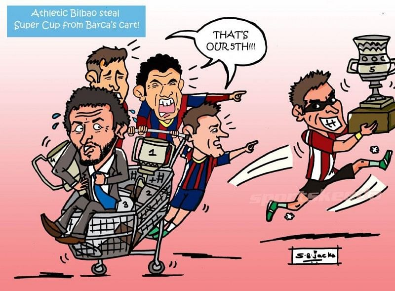 Athletic Bilbao steal Spanish Super Cup from Barcelona's cart