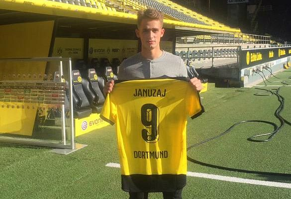 Manchester United youngster Adnan Januzaj completes season-long loan move to Borussia Dortmund