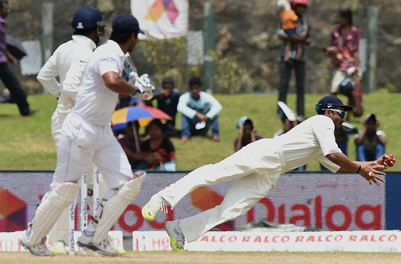 Ajinkya Rahane breaks world record for most catches (8) by a fielder in a Test match