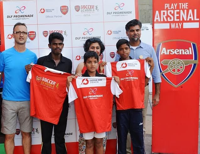 Arsenal and Magic Bus come together to organize football clinic in New Delhi