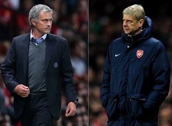 Chelsea manager Jose Mourinho mocks Arsene Wenger for winless streak against him