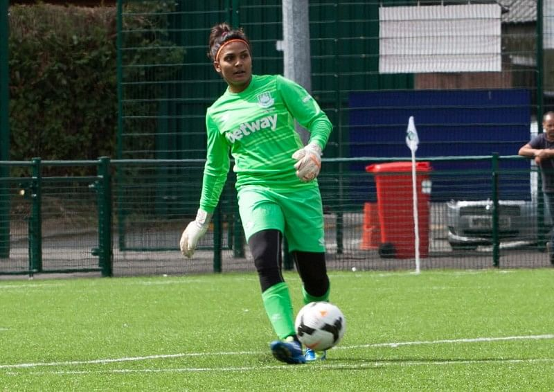 Aditi Chauhan keeps her first clean sheet for West Ham Ladies