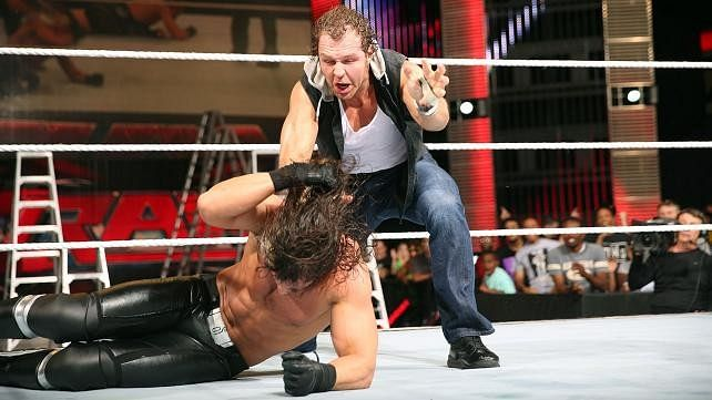 Post-SmackDown Ambrose - Rollins segment, Trish on Sara & Natalya, The Rock - Ballers