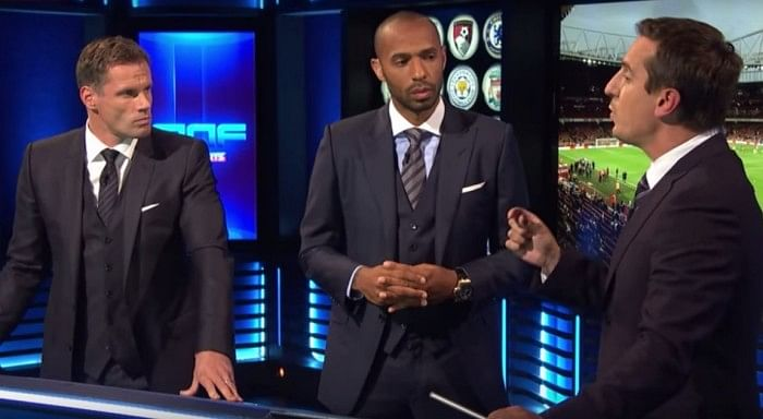 Video: Gary Neville, Thierry Henry and Jamie Carragher argue over Arsene Wenger's midfield combination