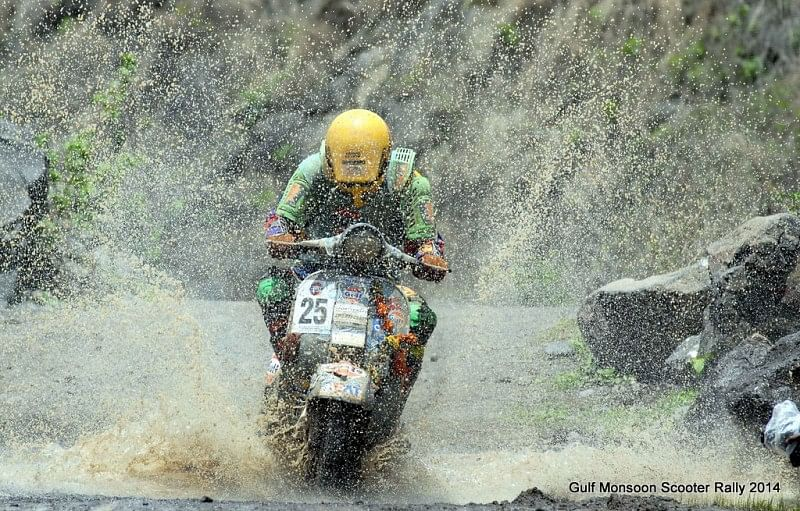Shamim Khan wins the 26th edition of the Gulf Monsoon Scooter Rally