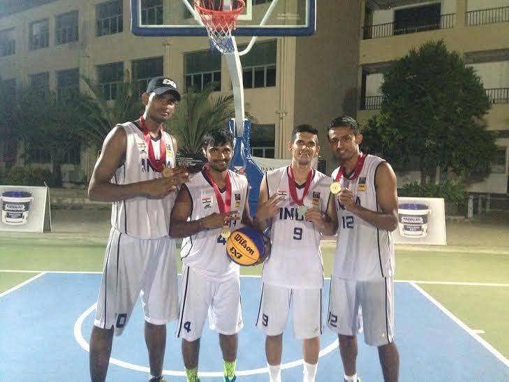 Indian Men win gold at 3x3 South Asian Basketball Meet