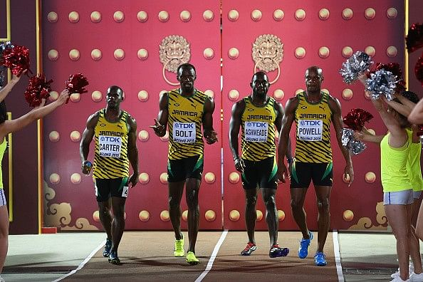 Jamaica win the 4x100m gold at the IAAF World Championships